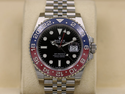 Rolex GMT Master II Pepsi 126710BLRO Stainless Jubilee - 2018 Box & Papers