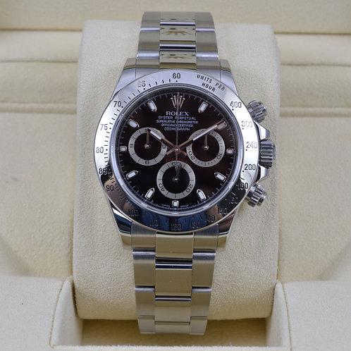 Rolex Daytona 116520 Black Dial - V Serial 2009 - Box & Papers