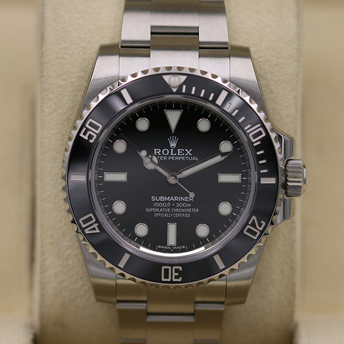 Rolex Submariner No Date 114060 Stainless - 2019 Unworn