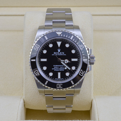 Rolex Submariner No Date 114060 - 2015 Box & Papers