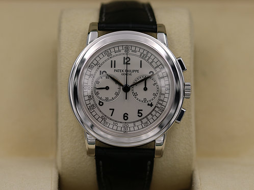 Patek Philippe 5070G-001 Chronograph 18k White Gold 5070G - Box & Papers!