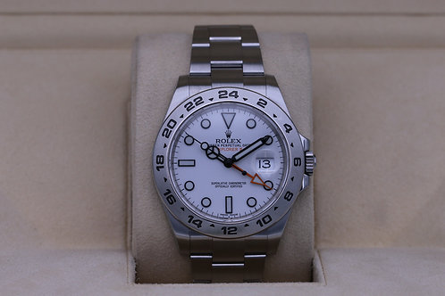 Rolex Explorer II 216570 White Dial 42mm Stainless - Box & Papers
