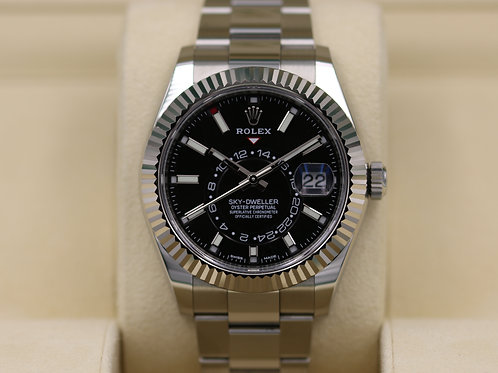 Rolex Sky-Dweller 326934 Black Dial Stainless - 2017 Box & Papers