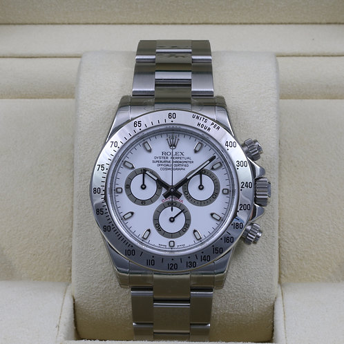 Rolex Daytona 116520 White Dial - Z Serial - Box & Papers - NEW Old Stock