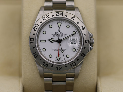 "Rolex Explorer II 16570 White Dial ""Polar"" Z Serial 3186 Movement - Box & Papers"