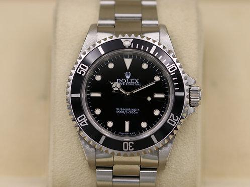 Rolex Submariner No Date 14060 2 Liner - U Serial Tritium Dial - Box & Papers