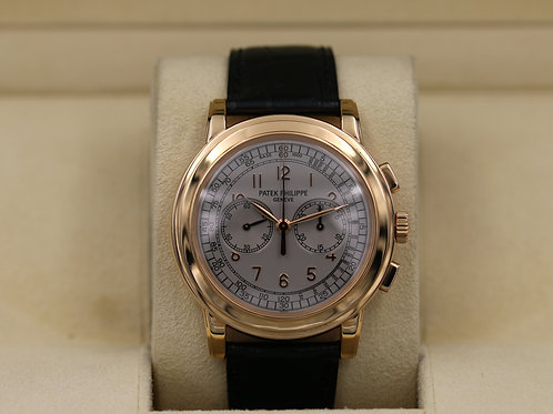 Patek Philippe Chronograph 5070R Rose Gold - Box & Papers