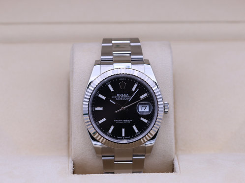 Rolex DateJust 41 126334 Black Stick Dial Oyster - 2020 Box & Papers