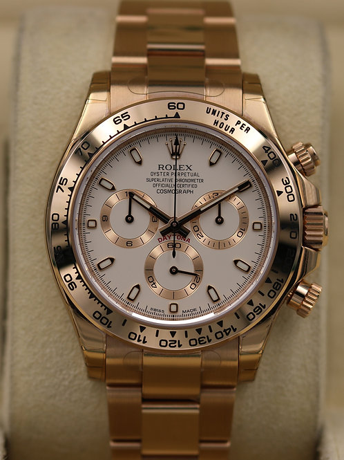 Rolex Daytona 116505 Everose Gold Ivory Dial - Box & Papers