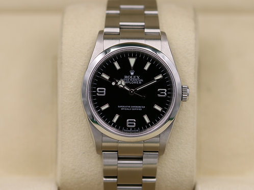 Rolex Explorer I 114270 36mm Stainless Steel - Z Serial Engraved - Box & Papers