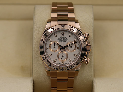 Rolex Daytona 116505 Everose Gold Ivory Dial - 2019 Box & Papers