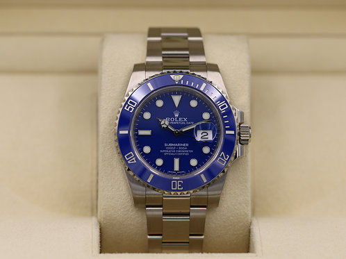 Rolex Submariner 116619 White Gold Blue Dial - 2017 Box & Papers