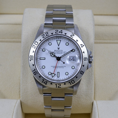 Rolex Explorer II 16570 White Dial - A Serial Box & Papers