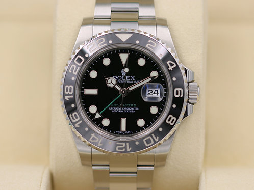 Rolex GMT Master II 116710LN Stainless - Box & Papers