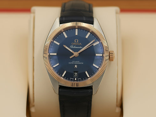 Omega Globemaster 8900 Co-Axial Steel/18K Rose Gold Blue Dial - 2017 Box & Paper