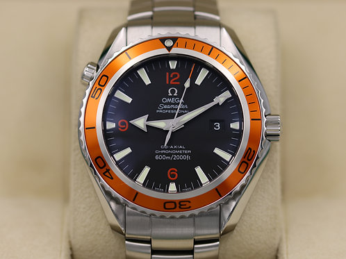 Omega Seamaster Planet Ocean XL Orange 2208.50 45.5mm Co-Axial 600M Box & Papers