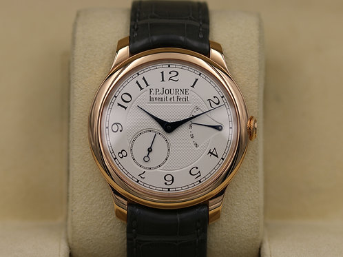 F. P. Journe Chronometre Souverain Red Gold Silver Dial - Box & Papers!