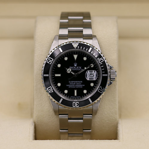 Rolex Submariner 16610 Stainless - M Serial Engraved - Box & Papers