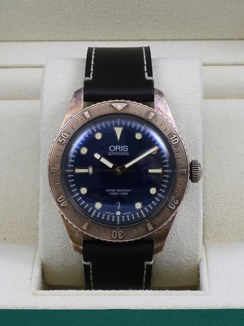 Oris Divers Blue Dial Carl Brashear Limited Edition Bronze 01 733 7720 3185