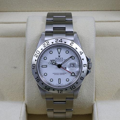 "Rolex Explorer II 16570 White Dial ""Polar"" - Z Serial Box & Papers"