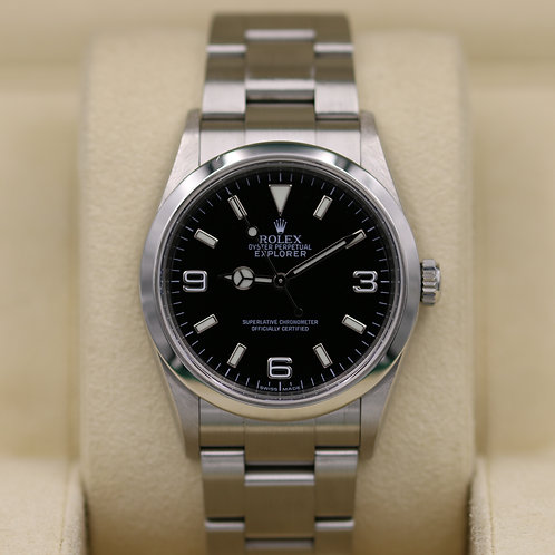 Rolex Explorer I 114270 36mm Stainless Steel - V Serial Engraved - Box & Papers!