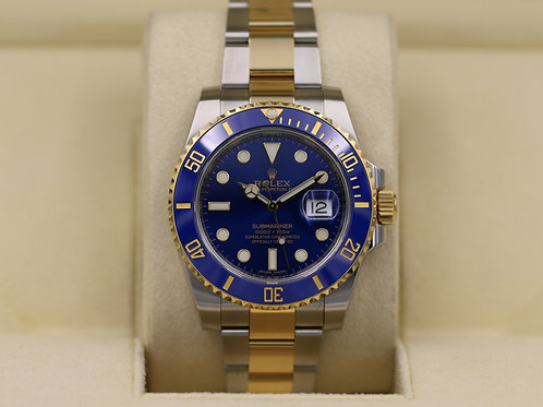 Rolex Submariner 116613 Two Tone Blue Dial - Box & Papers