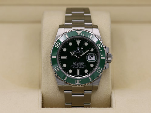 Rolex Submariner Date 116610LV Hulk Green - Box & Papers