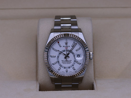 Rolex Sky-Dweller 326934 Stainless Steel White Dial - 2020 Box & Papers