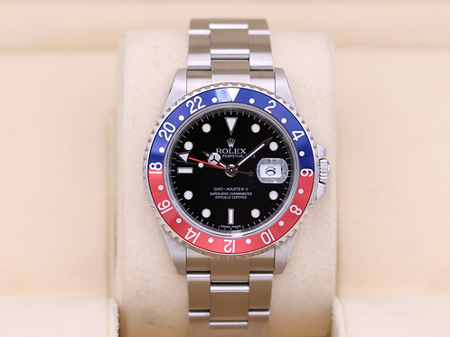 Rolex GMT Master II 16710B Pepsi 3186 Movement - Box & Papers