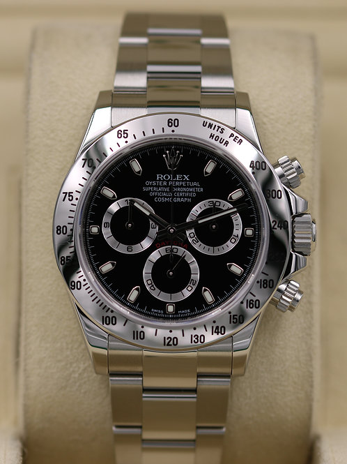 Rolex Daytona 116520 Black Dial Stainless - G Serial Box & Papers