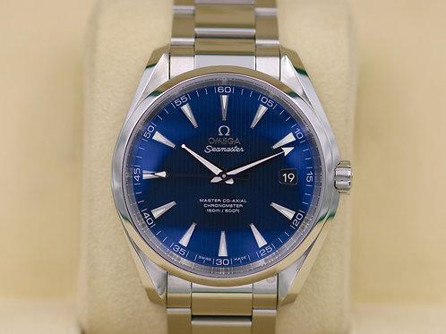 Omega Seamaster Aqua Terra Co Axial 231.10.42.21.03.003 Blue Dial - Box & Papers