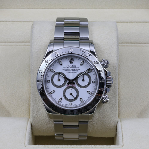 Rolex Daytona 116520 White Dial - F Serial - Box & Papers
