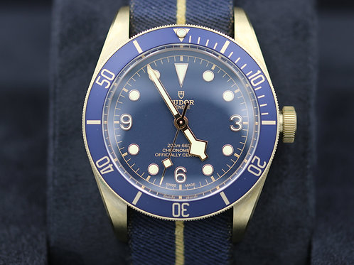 Tudor Black Bay Bronze 79250BB Blue Bucherer Edition - 2018 Brand New
