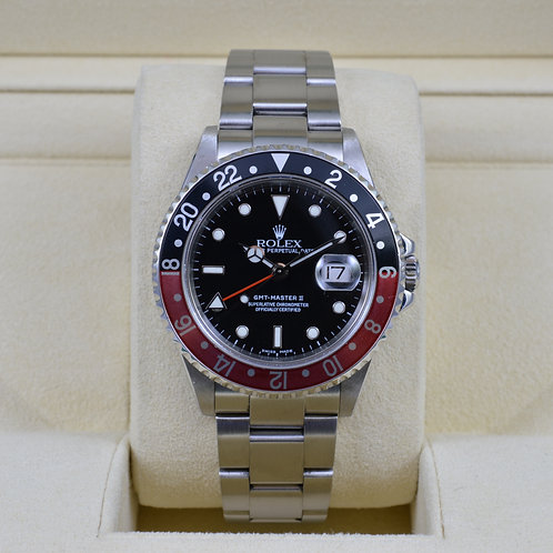 Rolex GMT Master II 16710 Coke No Holes - Box & Papers