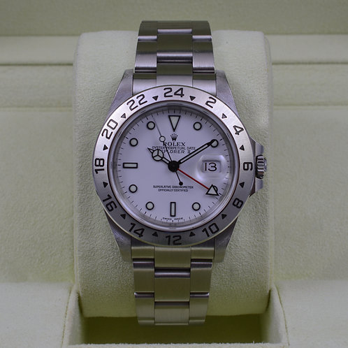 Rolex Explorer II 16570 White Dial - K Serial Box & Papers