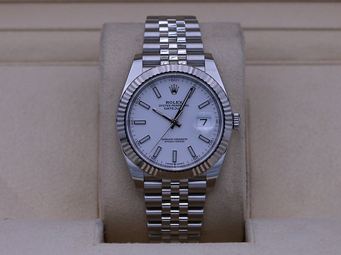 Rolex DateJust 41 126334 White Stick Dial Jubilee - 2020 Box & Papers