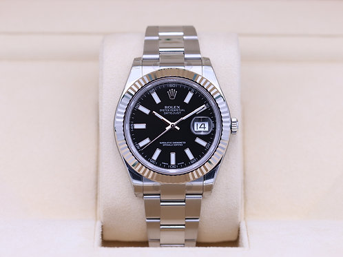 Rolex DateJust II 116334 Black Dial 41mm - Box & Papers