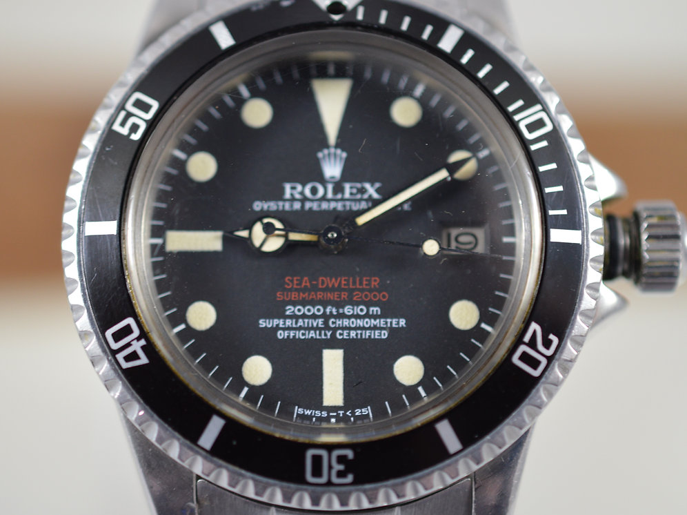 Rolex Double Red Sea Dweller 1665 Mk Iii Dial Pre Owned Rolex
