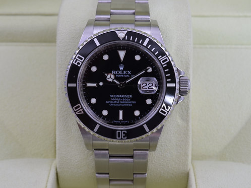 Rolex Submariner 16610 - M Serial Engraved - Box & Papers