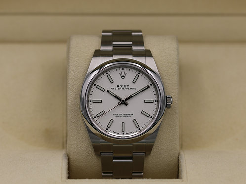 Rolex Oyster Perpetual 114300 White Dial 39mm - 2019 Unworn!