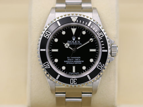 Rolex Submariner No Date 14060M 40mm SS - 4 Liner Random Serial - Box & Papers!