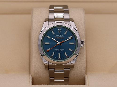 Rolex Milgauss 116400GV Z-Blue Green Sapphire - Box & Papers