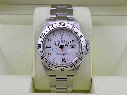 Rolex Explorer II 16570 White - G Serial 3186 Mvmt - Box & Papers