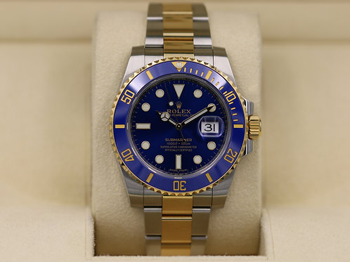 Rolex Submariner 116613 Two Tone Blue Dial - 2017 Box & Papers