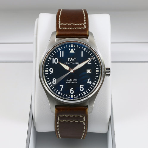 IWC Pilot's Mark XVIII Edition Le Petit Prince IW327004 Blue Dial - Box & Papers