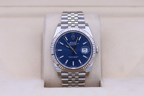 Rolex DateJust 41 126334 Blue Stick Dial Jubilee - 2020 Box & Papers