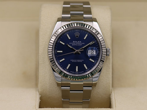 Rolex DateJust 41 126334 Blue Dial Oyster - 2018 Box & Papers