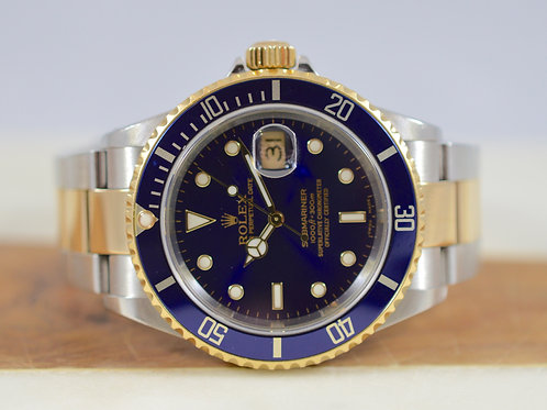 Rolex Submariner Two Tone 16613 Blue Dial
