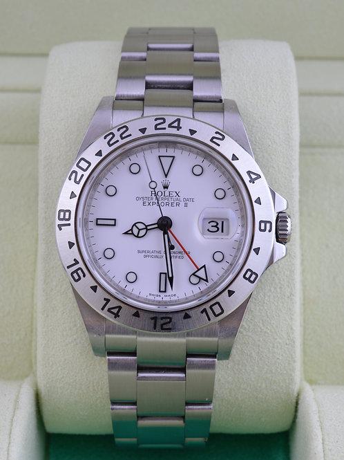 Rolex Explorer II 16570 Polar 3186 Mvmt V Serial