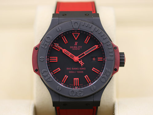 Hublot Big Bang King All Black Red 48mm 322.CI.1130.GR.ABR10 - Box & Papers